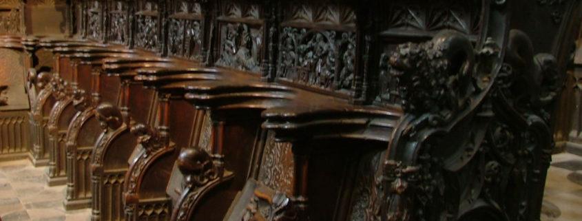 Detalle de la Sillería del Coro de la Catedral de Plasencia (Cáceres).