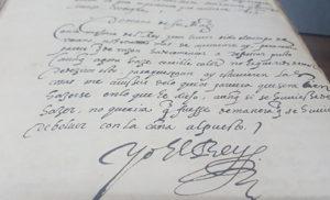 Uno de los documentos de Felipe II relativos a su sucesión en Portugal.