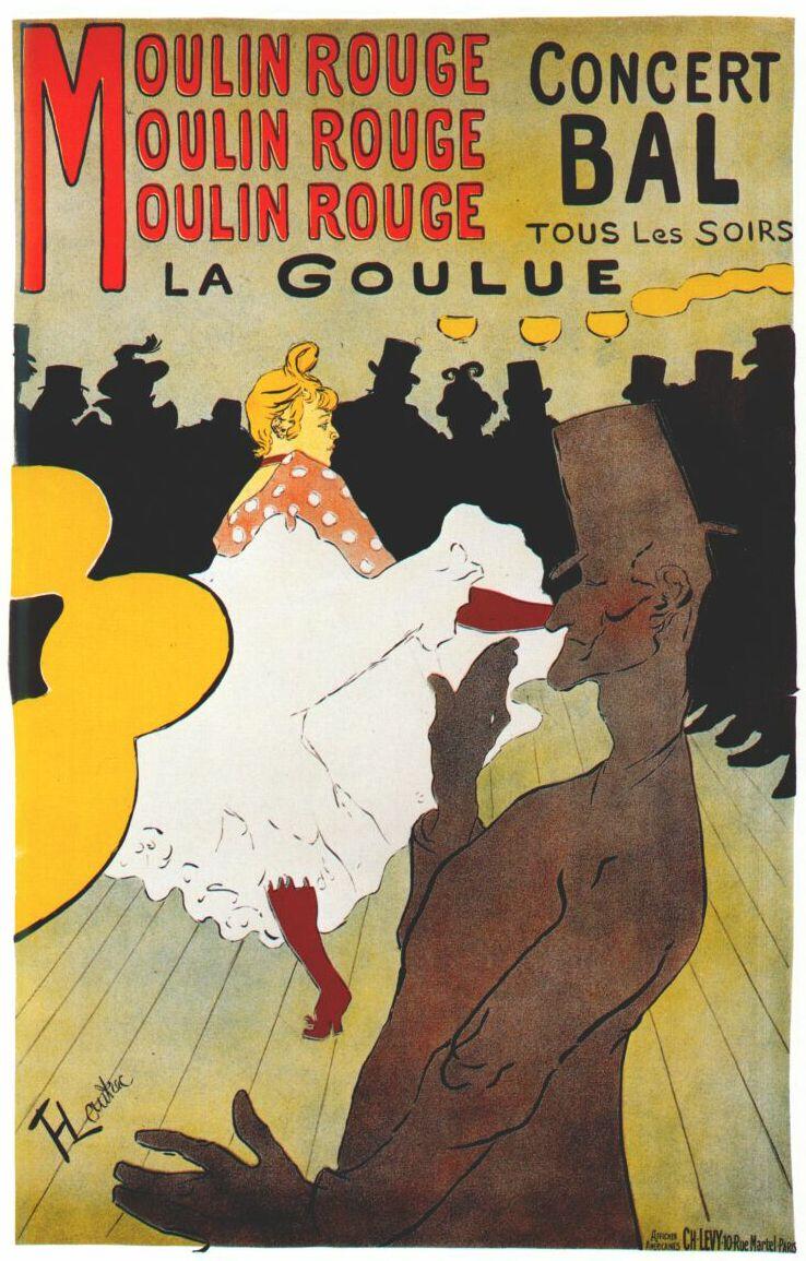 """""""Moulin Rouge"""", de Toulouse-Lautrec."""