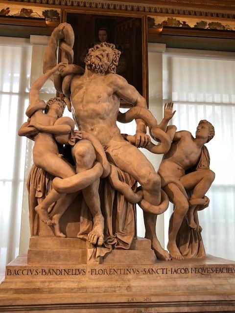 Reproducción del Laocoonte por Bandinelli, expuesta en la galería Uffizi de Florencia.