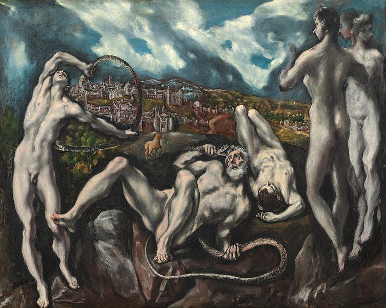 Versión de Laoconte y sus hijos según El Greco.