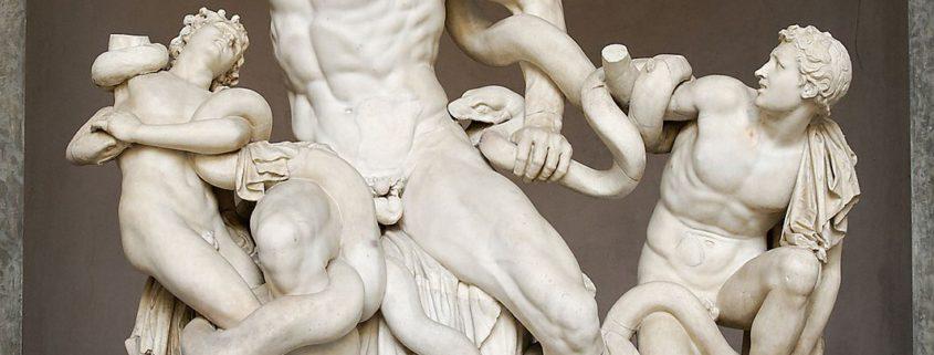 Laocoonte y sus hijos en su estado actual en los Museos Vaticanos.