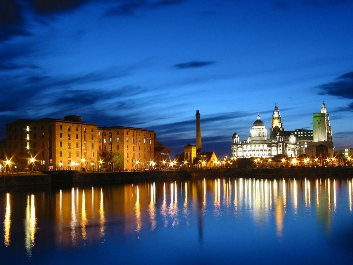 Puerto marítimo mercantil de Liverpool (Reino Unido)