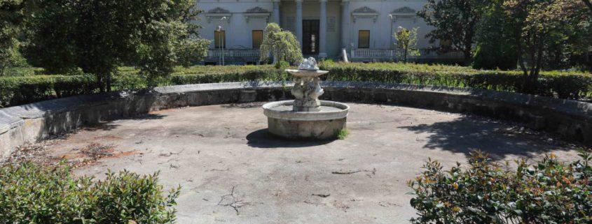 Fachada del Palacio Nuevo de la Finca Vista Alegre (Madrid).