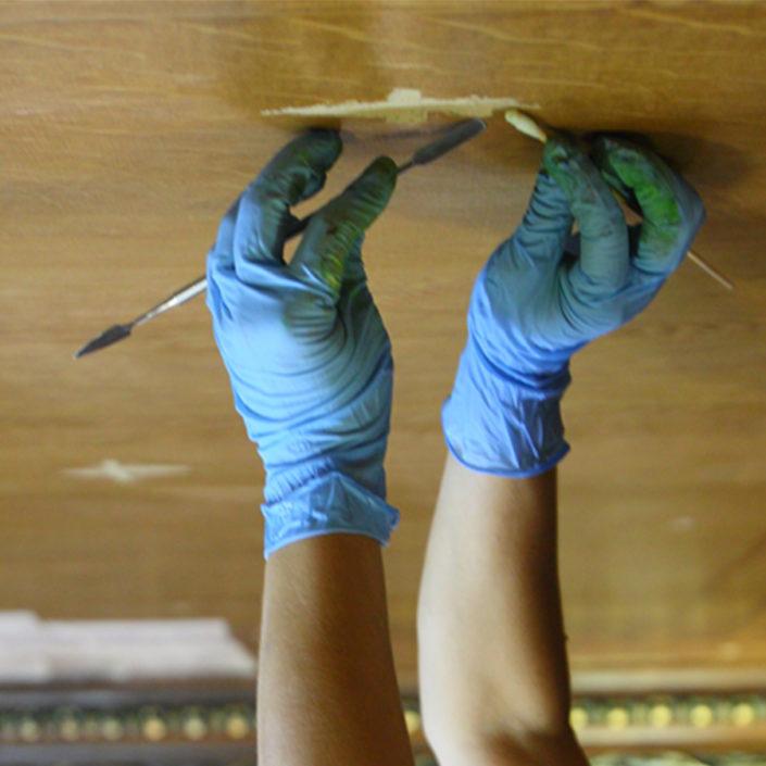 Reintegración lienzo mural