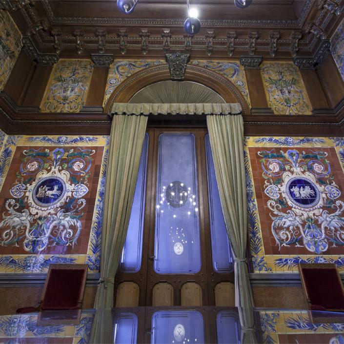 El Hall de profesores de la ETSI de Minas y Energía de Madrid